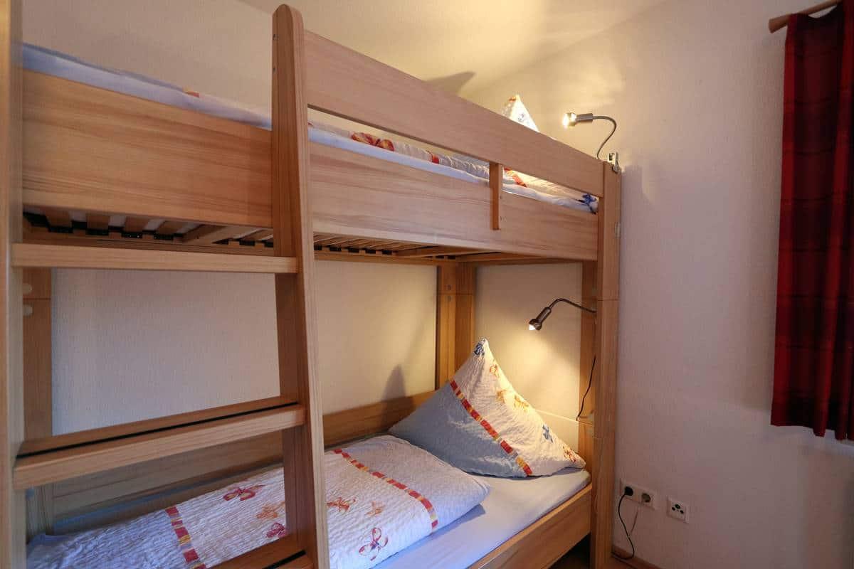 Etagenbett Schlafzimmer 1 Ferienwohnung