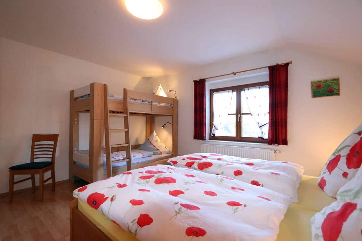 Schlafzimmer Etagenbett Ferienwohnung